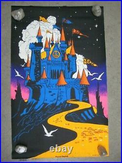 Peaceful kingdom 1971 black light poster vintage psychedelic C1955