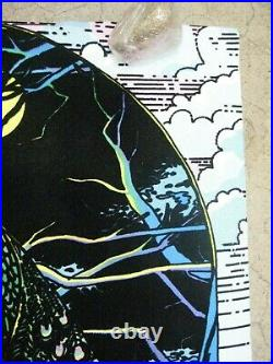 Peacock flocked 1973 black light poster vintage psychedelic C97