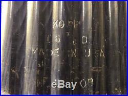 RARE Vintage 16 Kopp Ribbed Railroad Maritime Stage Flood Glass Light Lens