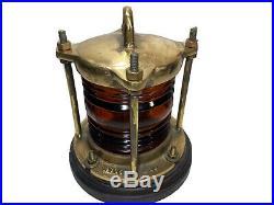 RARE Vintage Orange Converted Electric Lantern Perkins Marine Lamp Boat Light