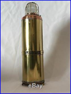 RARE Vintage SHIP Lantern Galbraith Electric Water Light Brass Ship Nautical