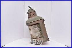Rare Antique VTG PERKO PERKINS Ship Lantern under Globe Light Brass w EAGLE top
