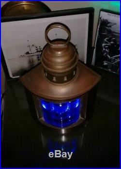 Rare Triplex Antique Vintage PERKO Chris Craft GarWood Boat Light Lamp Light