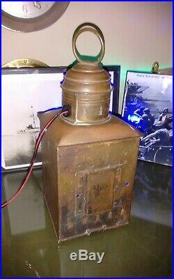 Rare Triplex Antique Vintage PERKO Light Chris Craft GarWood Boat Light Lamp