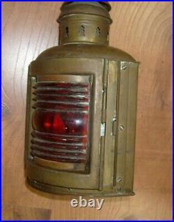 Rare Vintage Antique Perko De Lite Ship Boat Nautical Marine Lantern Light Lamp