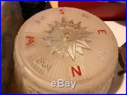 Rare Vintage Nautical Ceiling Light Fixture Compass Ship Lighthouse Anchor