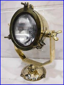 Rare Vintage Nautical Maritime Ship Brass Spot Light