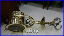 Rare Vintage nautical marine brass ship salvage spot light 100% original 11kg