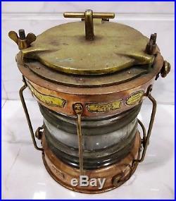 Rare vintage marine copper ship nautical salvage electric light 100% original