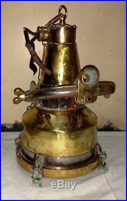 Rare vintage marine nautical brass ship hanging spot light 100% original