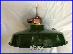 Reclaimed Brass Wiska Nautical Pendant Light Vintage