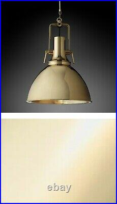 Restoration Hardware Vintage Nautical Pendant Lighting 18 Polished Brass