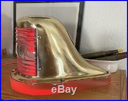 Restored Antique Vintage PERKO Chris Craft GarWood Boat Bow Light Nightlight