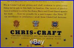 Restored Antique Vintage PERKO Chris Craft GarWood Boat Stern Light Night Light