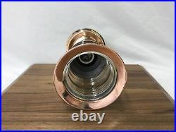 Restored Antique Vtg Nautical Copper & Brass Ship Lantern Ceiling Porch Light