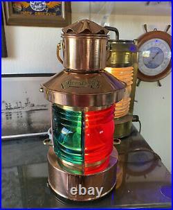 Restored Rare Antique Vintage U. S. N. WWII MASTHEAD Boat Light COPPER