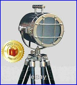Retro Spot Light Best Design Vintage Nautical Table Lamp Wooden Tripod Decor