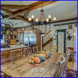 Rustic Farmhouse Pendant Light Reteo Vintage Chandelier Dining Room Bar Fixture