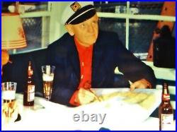 Scarce 1958 Vtg Budweiser Beer Light Bar Sign Nautical Yacht Boat House Captain