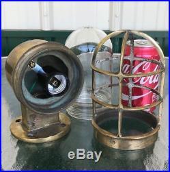 Set Of 4 Vintage Nautical Brass Wall Lights