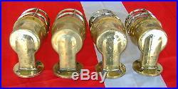 Set of 4 Vintage Brass Ship's Passageway Lights