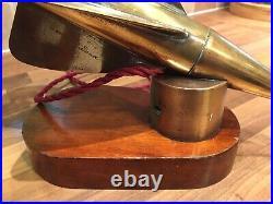 Ships Log Spinner Walkers Cherub Desk Light Vintage Brass Maritime Marine Boat