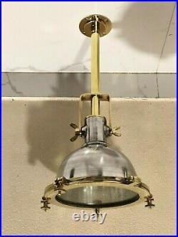 Spot Cargo Ceiling Nautical Vintage Style Aluminum & Brass Hanging New light