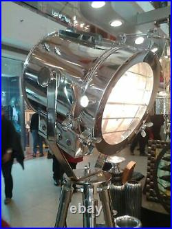 Spotlight Theater Nautical Tripod Search light lamp Collectible Floor Lamp