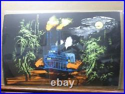 Steam boat Vintage Black Light Poster 1971 psychedelic Inv#G2909
