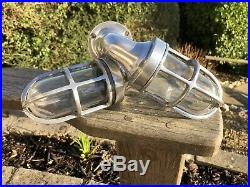 Stunning Original nautical Lamps Vintage Retro Marine Bulkhead Old Ship Lights