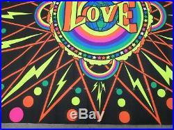 Super Love 1970 black light poster vintage psychedelic love ecology C365