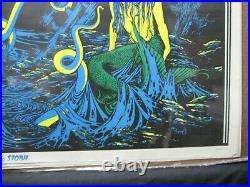 The Storm Sea Monster Nautical Black Light Vintage Poster 1970 Cng1725