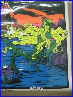 The Viking 1971 black light poster vintage psychedelic C192