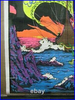 The Viking Black Light Vintage Poster 1971 Nautical Psychedelic Cng1187
