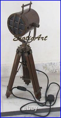 Theatre Focus Light on Tripod Vintage studio spotlight Industrial Spot Lamp 32
