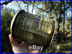 Triplex Vintage Ship Light Clear glass Brass