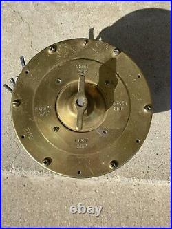 Us Navy Ship Boat Bridge Vintage Uss Vulcan Brass Light Switch Wwii Vietnam Era