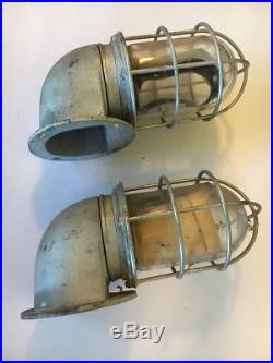 VAN BRUNT Maritime Explosion Proof Solid Metal Vintage Steampunk Lights (Pair)