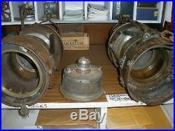 VINTAGE ALDERSON & GYDE LTD BIRMINGHAM SHIP ANCHOR LIGHT LANTERNS set of 2
