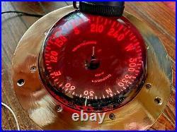 VINTAGE DANFORTH 5 CONSTELLATION COMPASS FLUSH/DASH/BINNACLE MT. WithLIGHT