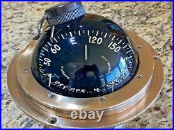 VINTAGE DANFORTH 5 CONSTELLATION COMPASS FLUSH/DASH/BINNACLE MT. WithLIGHT & HOOD
