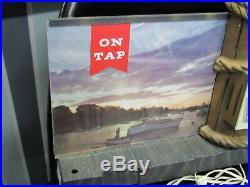 VINTAGE GETTELMAN LIGHTED BEER SIGN 18x13 Milwaukee nautical scene On Tap