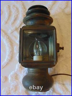 VINTAGE MARINE SALVAGED PORT SIDE LIGHT by SOLOR no. 1033c 13 tall