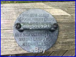 VINTAGE MARITIME BRASS & COPPER Navigation lights USS Gen. Nelson M Walker