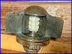 VINTAGE PERKO STERN LIGHT WithRARE GLASS LENS NEW WIRING, LED, SEALS NICE PATINA