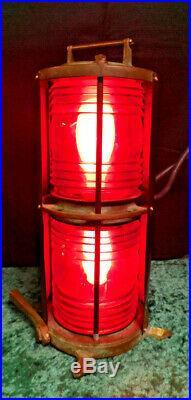VINTAGE Perko Double Lens Maritime Navigation Lights 1164-74-T