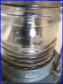 VINTAGE Railroad Bridge Navigation /Marine Nautical Ship Light RED & Clear Glass