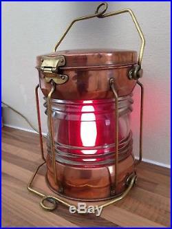 VINTAGE SHIPS MASTHEAD LIGHT BRASS / COPPER LAMP Nautical Maritime Marine
