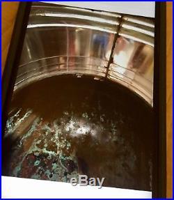 VTG LARGE COPPER METEORITE SIGNAL LIGHT SHIP LAMP MASTHEAD WithBrass Plague, CB/WS
