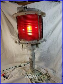 VTG Large Marine Bridge Navigation Span Light Red Green Lantern B & B Roadway #8
